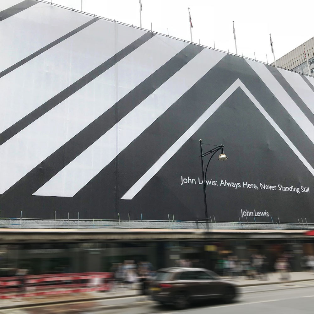 building wrap for john lewis oxford street