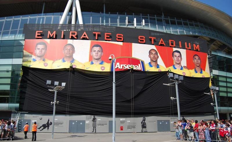 arsenal football club stadium wrap
