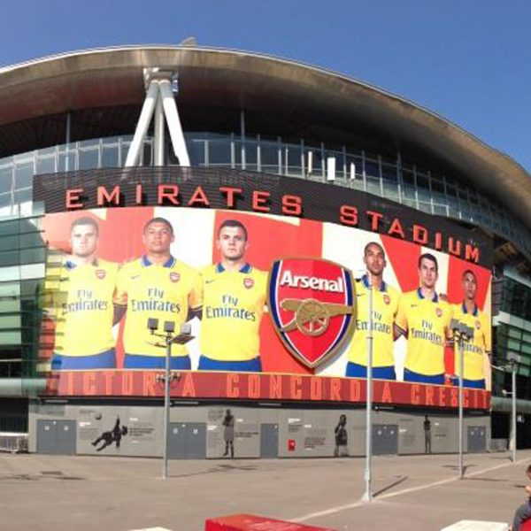 arsenal football club stadium wrap