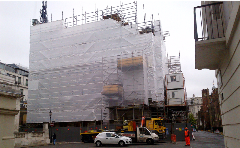 cleveland row building wrap