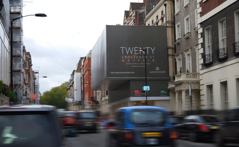 grosvenor street building wrap
