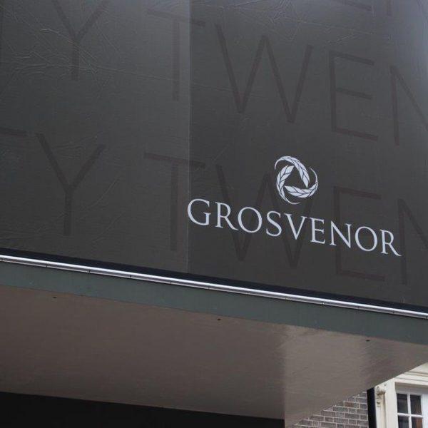 grosvenor street building wrap