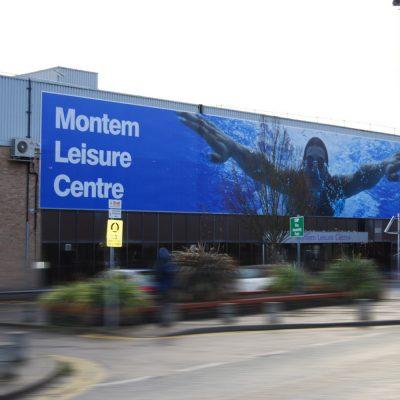 montem leisure centre banner
