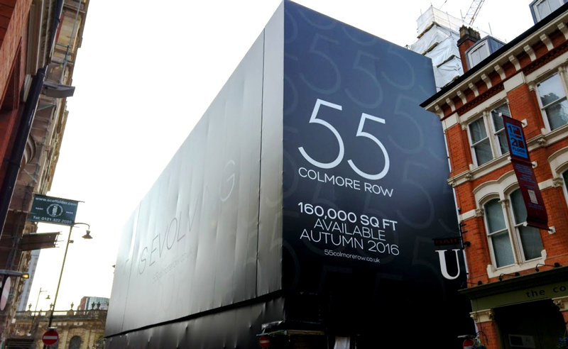 55 colmore road building wrap