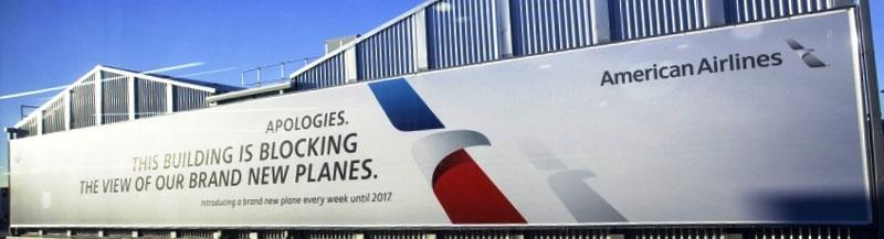 heathrow airport banner wrap