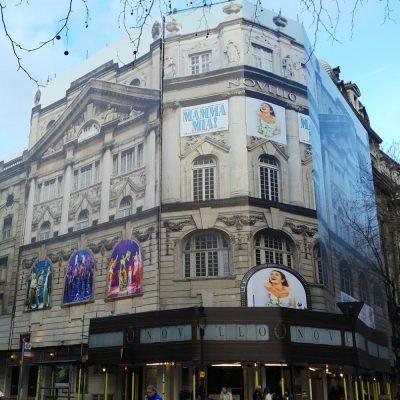 giant banner wrap for Novello theatre