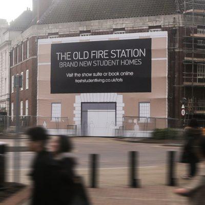 old fire station birmingham build wrap