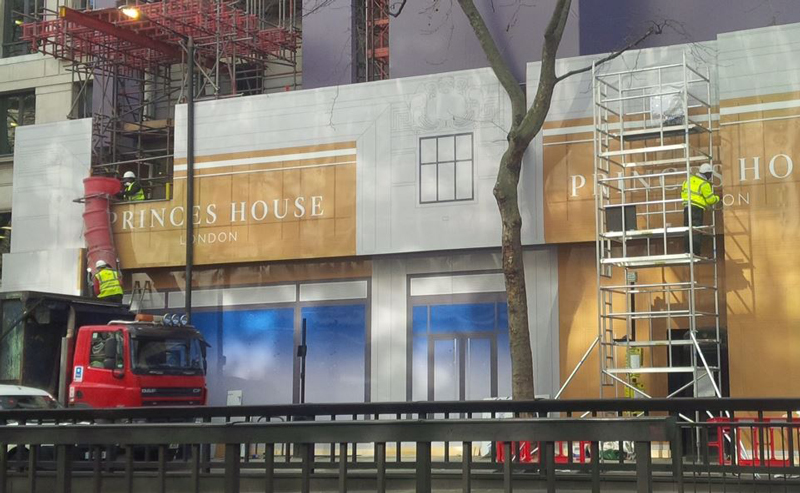 princes house site hoarding