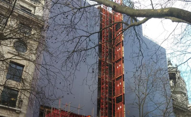 princes house giant building wrap