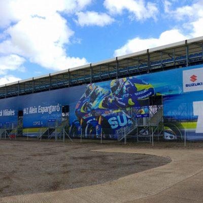 silverstone stadium banner wrap