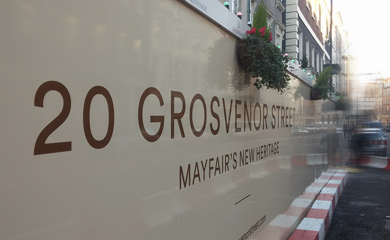 Grosvenor Estates - Hoarding Graphics London