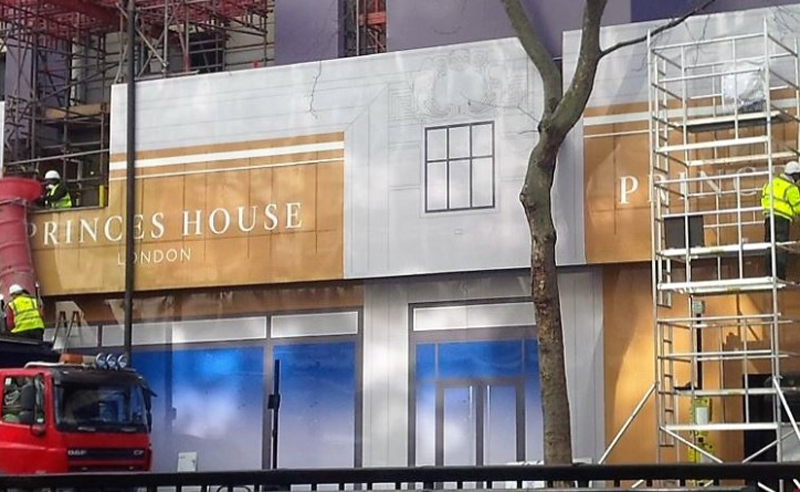 princes house site hoarding graphics