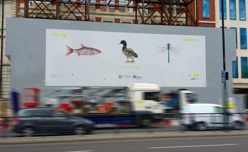 victoria embankment site hoarding graphics