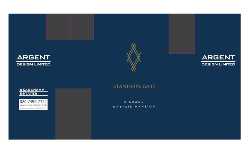 stanhope gate site hoarding graphics