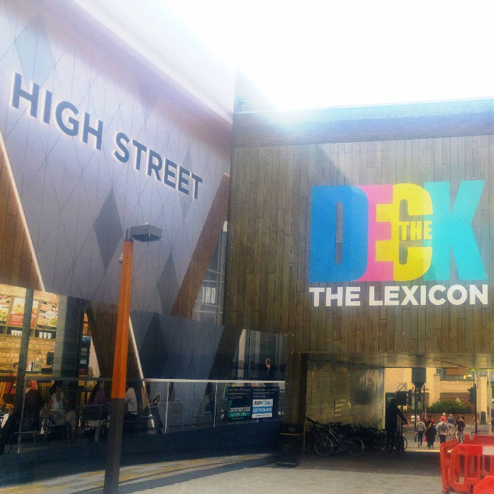 site hoarding graphics for lexicon centre