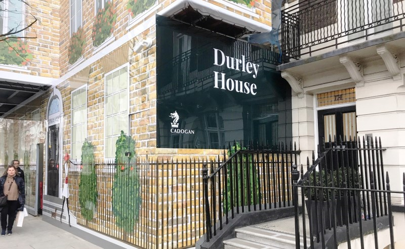 Durley House printed site hoarding