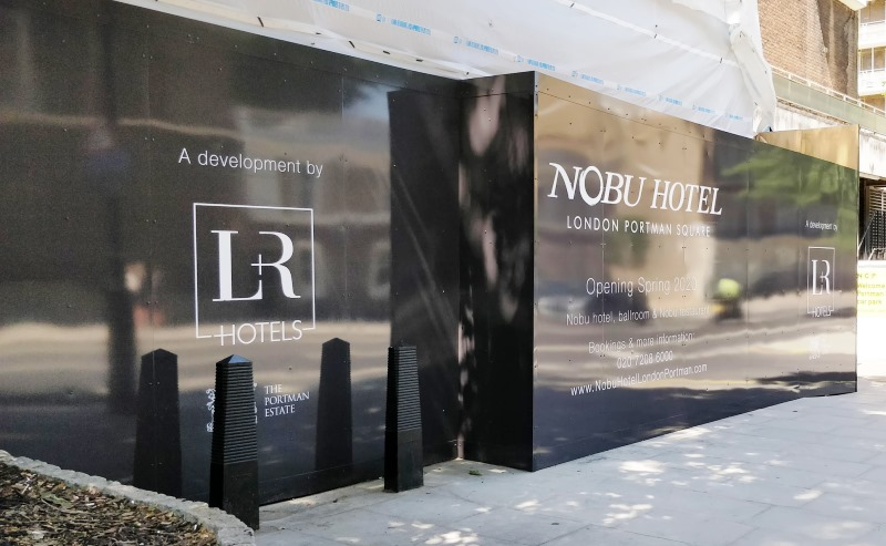 Nobu Hotel London Portman Street Embrace Building Wraps
