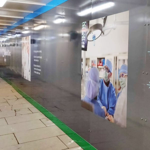 Cleveland Clinic hoarding graphics