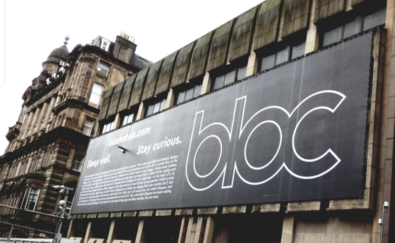 Bloc Hotels Glasgow building wrap