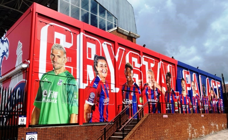 Crystal Palace FC self-adhesive cabin wrap