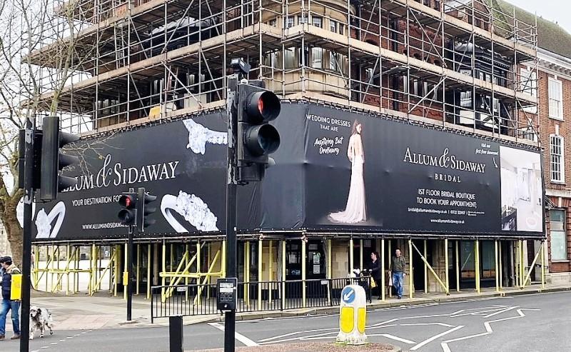 Allum & Sidaway Salibsury PVC-free scaffold wrap