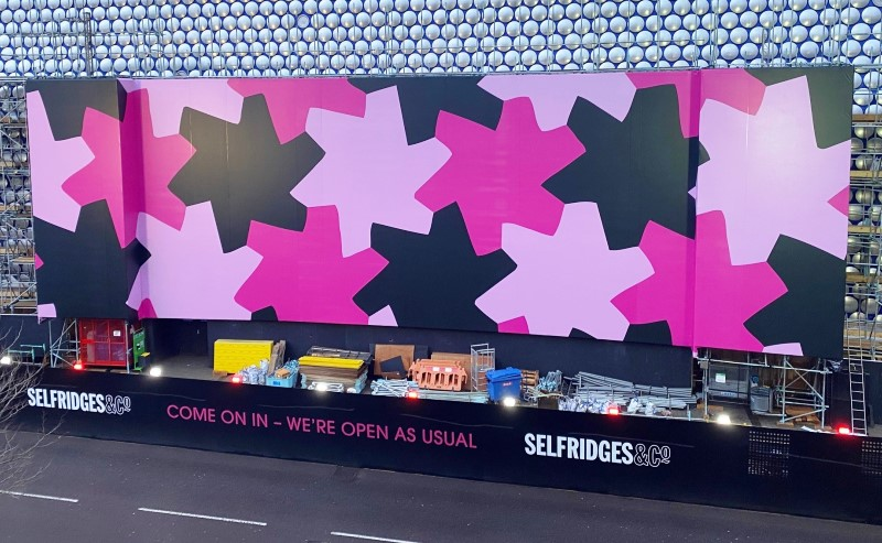 Printed scaffold wrap at Selfridges Birmingham
