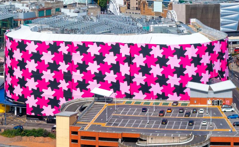 Selfridges Birmingham building wrap