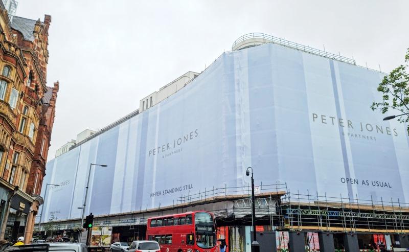 Peter Jones & Partners printed scaffold banner