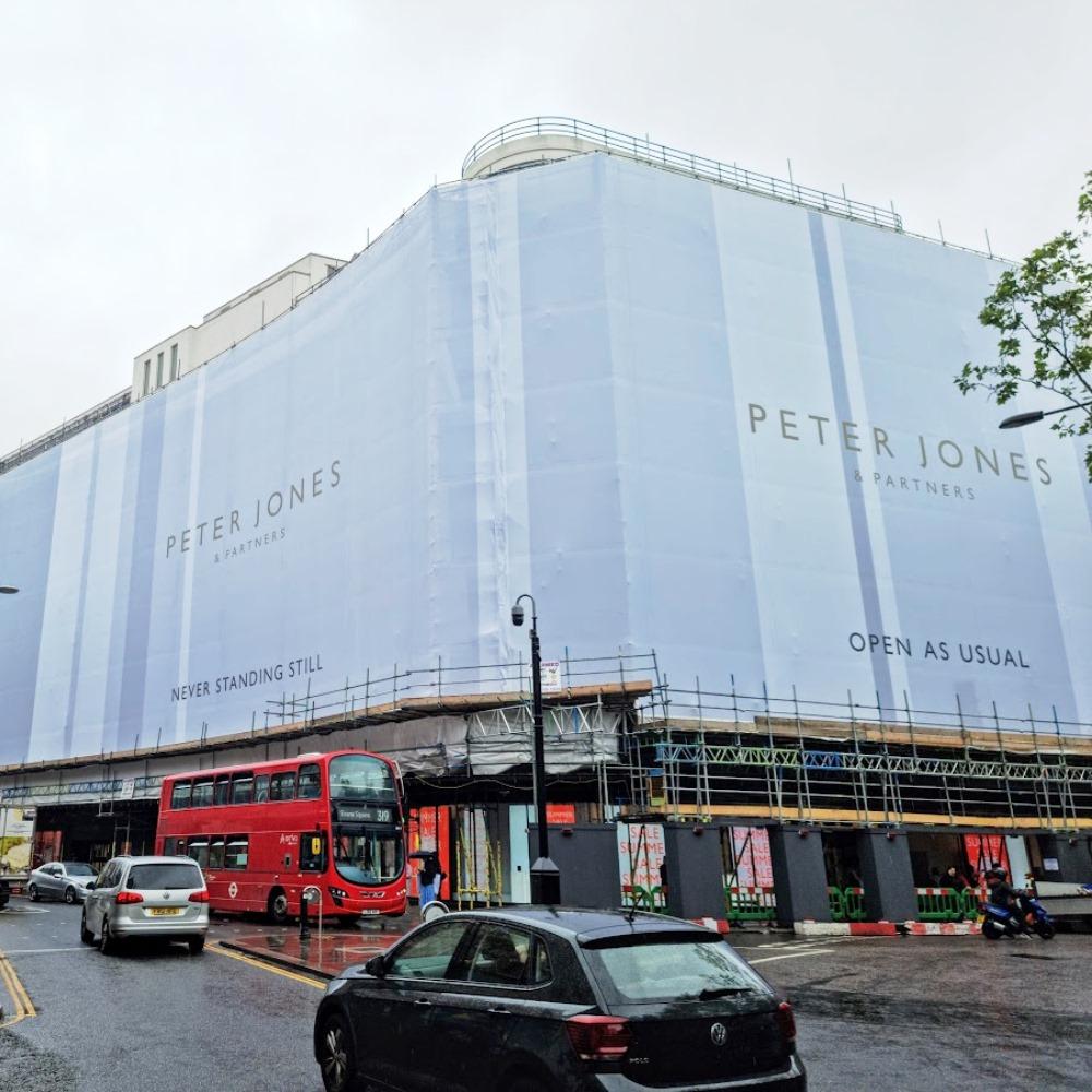 Peter Jones & Partners printed scaffold wrap