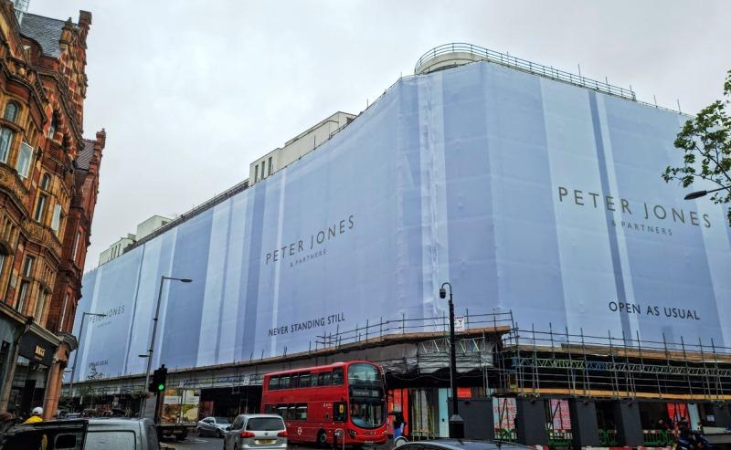 Peter Jones & Partners building wrap