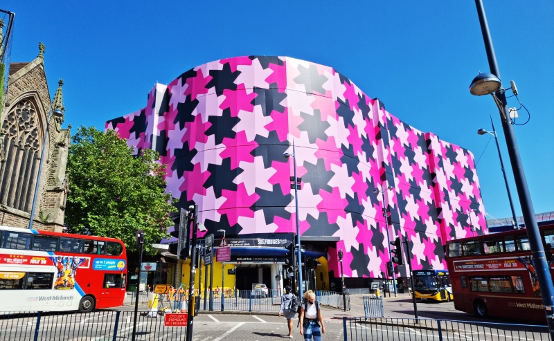 Selfridges Birmingham scaffold banner