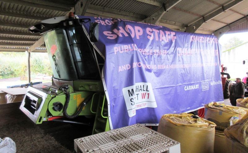 Farmer Repurpose of PVC wrap in agricultural setting
